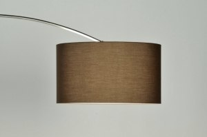 floor lamp 30012 rustic modern contemporary classical stainless steel fabric brown round