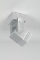 spot 30038 design modern geschuurd aluminium metaal aluminium vierkant rechthoekig