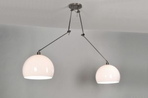 pendant light 30111 modern plastic white round