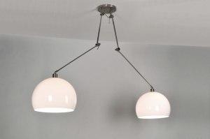 hanglamp 30111 modern kunststof wit rond