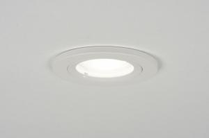inbouwspot 30156 design modern aluminium metaal wit mat rond