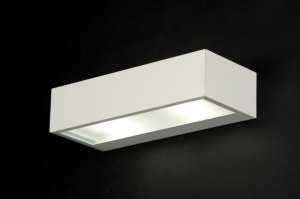 wandlamp 30227 modern aluminium metaal wit mat rechthoekig