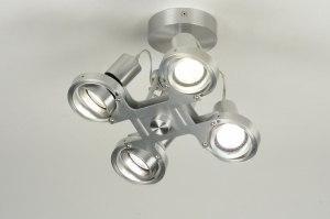 plafondlamp 30298 modern design aluminium aluminium metaal rond