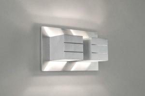 wandlamp 30338 modern design aluminium aluminium geschuurd aluminium metaal rechthoekig