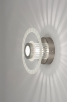 plafonnier 30342 design moderne verre aluminium acier aluminium rond