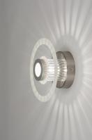 plafondlamp 30342 design modern glas aluminium metaal aluminium rond