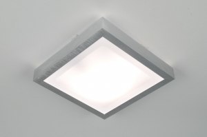 Lampara de techo 30367 Moderno Aluminio Material. sintetico. Blanco Aluminio Cuadrado