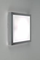 plafonnier 30368 moderne aluminium plastique blanc aluminium carre