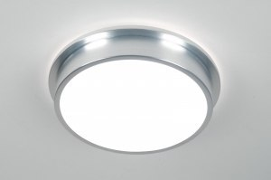 plafondlamp 30370 modern aluminium aluminium kunststof rond