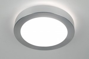plafondlamp 30371 modern aluminium kunststof aluminium rond