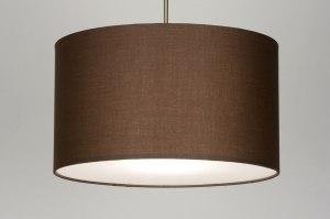hanglamp 30375 landelijk rustiek modern eigentijds klassiek stof bruin rond