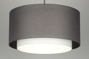pendant light 30401 rustic modern contemporary classical fabric grey taupe colored round