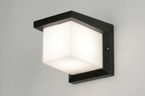 wall lamp 30465 modern aluminium plastic polycarbonate black matt rectangular