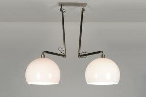 hanglamp 30506 modern landelijk rustiek retro wit kunststof