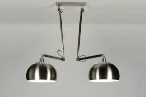 hanglamp 30507 modern retro staal rvs metaal staalgrijs