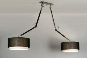 hanglamp 30511 landelijk rustiek modern stof zwart