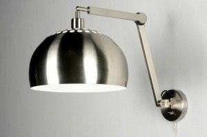 wandlamp 30518 modern staal rvs metaal