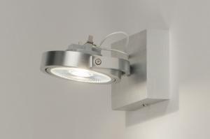 plafondlamp 30532 design modern aluminium geschuurd aluminium metaal aluminium rond