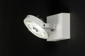 plafondlamp 30533 modern design wit mat aluminium metaal rond