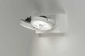 plafondlamp 30534 modern design wit mat aluminium metaal rond