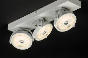 plafondlamp 30537 modern design wit mat aluminium metaal rond