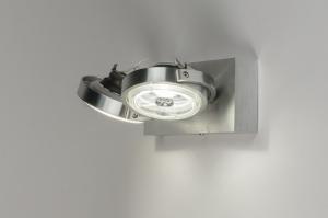 plafondlamp 30538 design modern aluminium geschuurd aluminium metaal aluminium rond