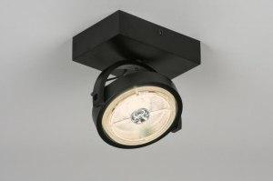 plafondlamp 30539 design modern aluminium metaal zwart mat rond vierkant