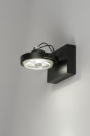 plafondlamp 30539 modern design zwart mat aluminium metaal rond vierkant