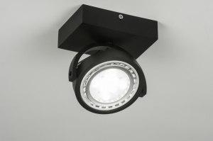 spot 30598 design modern aluminium zwart mat rond vierkant