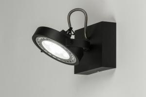 plafondlamp 30598 modern design zwart mat aluminium rond vierkant