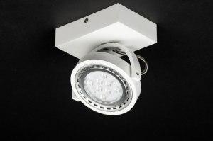 plafondlamp 30602 modern design wit mat aluminium rond