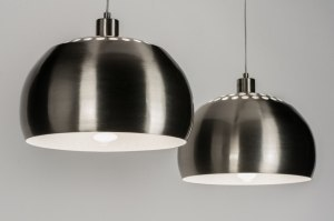 pendant light 30632 industrial look rustic modern retro stainless steel metal steel gray round oblong