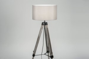 floor lamp 30717 rustic modern contemporary classical wood grey wood