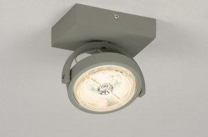 plafondlamp 30734 design modern aluminium metaal grijs betongrijs rond