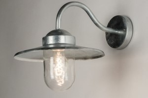 wall lamp 30766 rustic modern contemporary classical glass galvanised steel metal zinc zinc