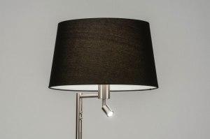 vloerlamp 30781 modern staal rvs stof metaal zwart staalgrijs