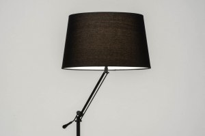floor lamp 30786 modern contemporary classical fabric metal black matt