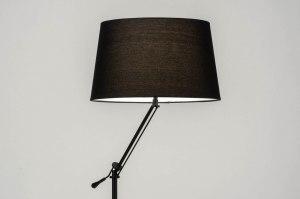 vloerlamp 30786 modern eigentijds klassiek stof metaal zwart mat