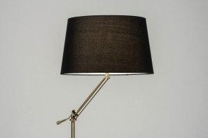 lampadaire 30790 moderne classique classique contemporain cuivre jaune poli etoffe acier noir bronze brun rouille cuivre jaune mat