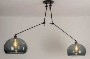 pendant light 30806 modern retro glass plastic metal black matt grey