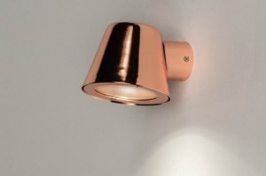 wall lamp 30817 designer modern contemporary classical metal copper red copper round