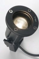 spotlight 30834 industrial look modern aluminium metal black round