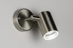 wall lamp 30836 modern stainless steel metal round