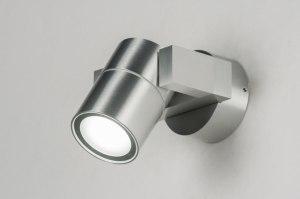 wandlamp 30837 modern aluminium metaal rond