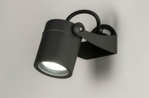 outdoor lamp 30847 modern aluminium metal dark gray round