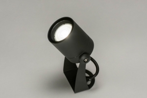 outdoor lamp 30847 modern aluminium metal dark gray round