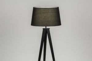 vloerlamp 30886 design modern stof metaal zwart