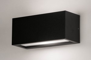 Wandleuchte 30897 modern Aluminium Kunststoff Polycarbonat schwarz matt rechteckig