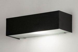 wandlamp 30905 modern glas aluminium metaal zwart mat rechthoekig