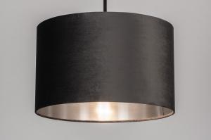 hanglamp 30932 landelijk rustiek modern eigentijds klassiek stof metaal zwart goud roze koper